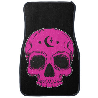 Artistic Skull (pink) Car Mat
