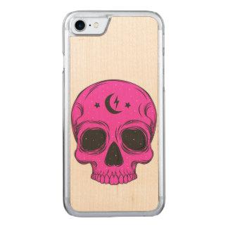 Artistic Skull (pink) Carved iPhone 7 Case