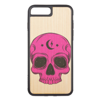 Artistic Skull (pink) Carved iPhone 8 Plus/7 Plus Case