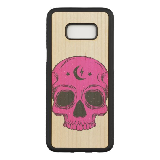 Artistic Skull (pink) Carved Samsung Galaxy S8+ Case