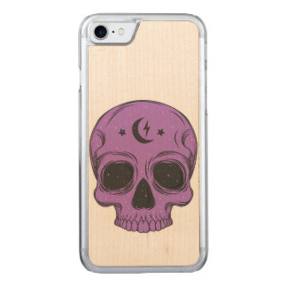 Artistic Skull (purple) Carved iPhone 7 Case
