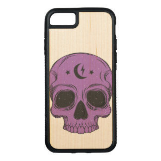 Artistic Skull (purple) Carved iPhone 8/7 Case