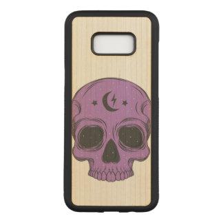 Artistic Skull (purple) Carved Samsung Galaxy S8+ Case