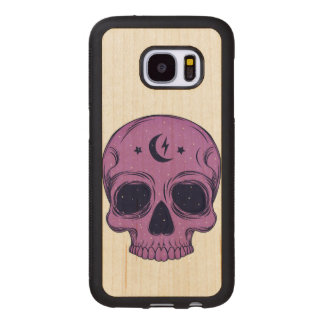 Artistic Skull Wood Samsung Galaxy S7 Case