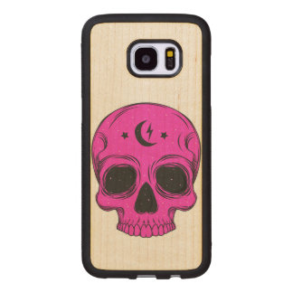Artistic Skull Wood Samsung Galaxy S7 Edge Case