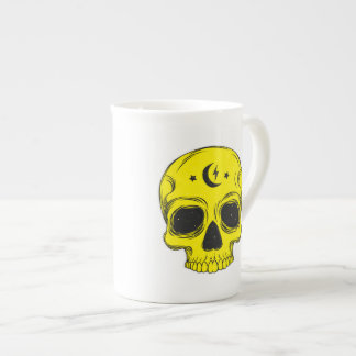 Artistic Skull (Yellow) Tea Cup
