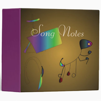 Artistic Song Notes Cover >Music Binders