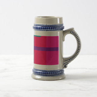 Artistic Space Red 18 Oz Beer Stein