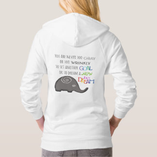 Artistic Spiral Elephant Inspiration Never Too Old Hoodie