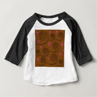 Artistic Spirals black on brown Baby T-Shirt