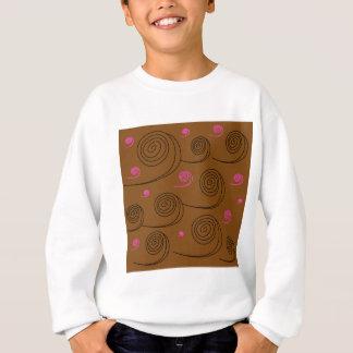 Artistic Spirals black on brown Sweatshirt
