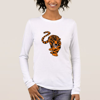 Artistic Stalking Tiger Art Long Sleeve T-Shirt