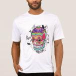 Artistic Suagr Skull Day of the Dead Illustration Shirt