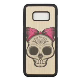 Artistic Sugar Skull Carved Samsung Galaxy S8 Case