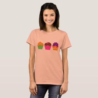 Artistic Summer t-shirt Orange with Muffins