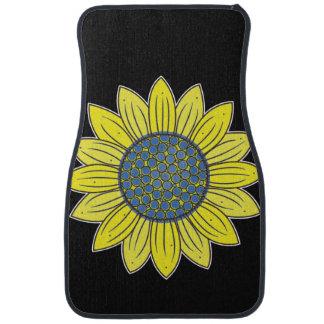 Artistic Sunflower Car Mat