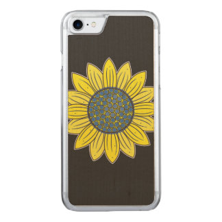 Artistic Sunflower Carved iPhone 7 Case
