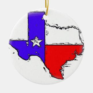 Artistic Texas state flag Round Ceramic Ornament