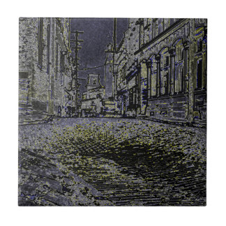 Artistic The Streets of Quebec Canada 1930's Tile