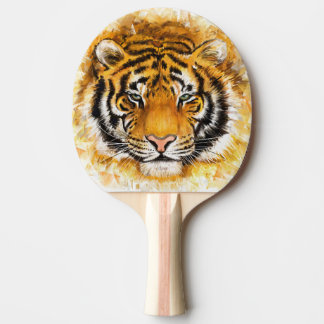 Artistic Tiger Face Ping Pong Paddle