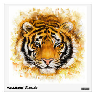 Artistic Tiger Face Wall Decal