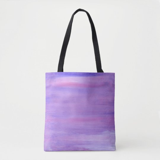 Artistic tote bag : purple with black