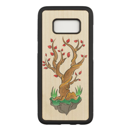 Artistic Tree Illustration Carved Samsung Galaxy S8 Case