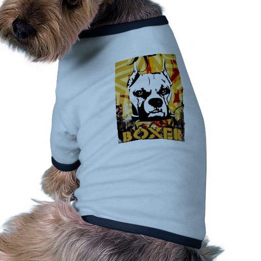 Artistic Urban Boxer Dog Breed Design Doggie T Shirt