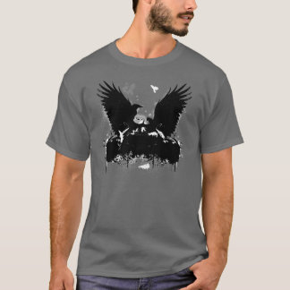 Artistic Urban Flying Graffitti Crows T-Shirt