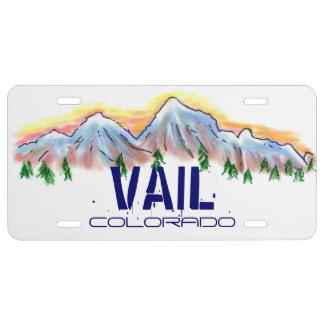 Artistic Vail Colorado license plate cover