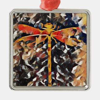 Artistic Warm Fall,Tone Dragonfly Metal Ornament