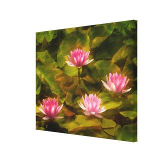 Artistic water lilies, California Canvas Print