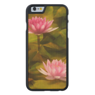 Artistic water lilies, California Carved® Maple iPhone 6 Slim Case