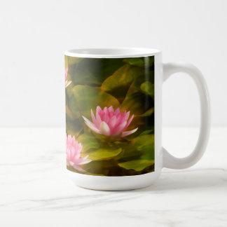 Artistic water lilies, California Coffee Mug
