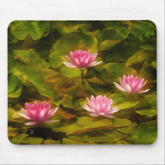 Artistic water lilies, California Mouse Pad
