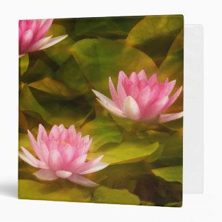 Artistic water lilies, California Vinyl Binders