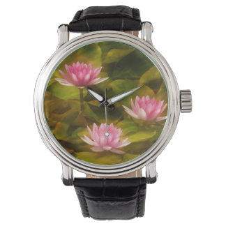 Artistic water lilies, California Watches