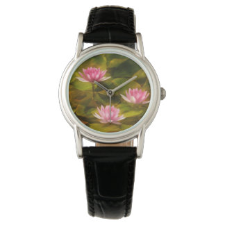 Artistic water lilies, California Wristwatches