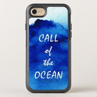 Artistic Watercolor Ocean Blue Abstract OtterBox Symmetry iPhone 8/7 Case