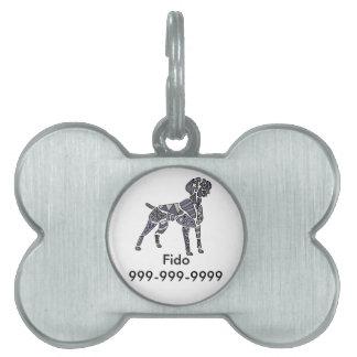 Artistic Weimaraner Dog Art Pet Name Tags