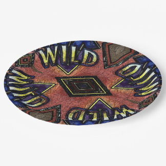 Artistic Wild Card Game Game Night 9 Inch Paper Plate