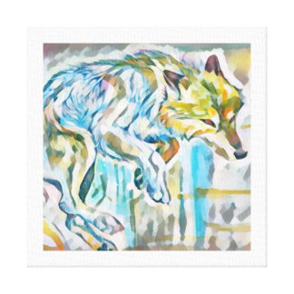 Artistic Wolf Canvas Painting
