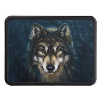 Artistic Wolf Face Hitch Cover