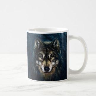 Artistic Wolf Face Mug