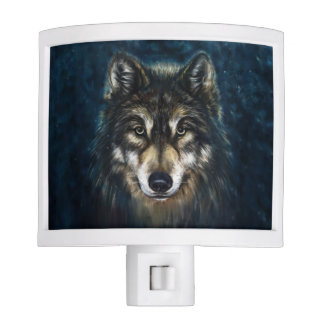 Artistic Wolf Face Night Light