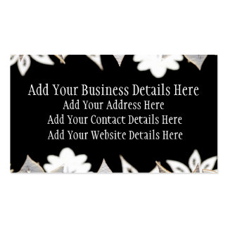 Artistic wooden trees and plants in a line business card