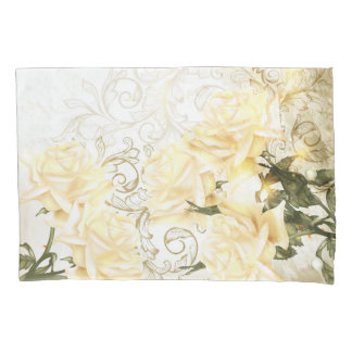 Artistic Yellow Roses (1 side) Pillowcase