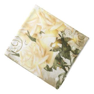 Artistic Yellow Roses Bandana