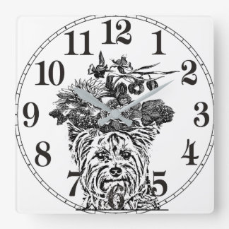 ARTISTIC YORKIE HOME/OFFICE CLOCK