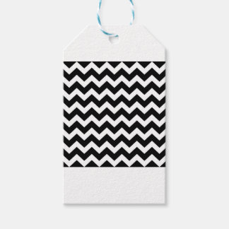 Artistic zigzag Black and white Gift Tags